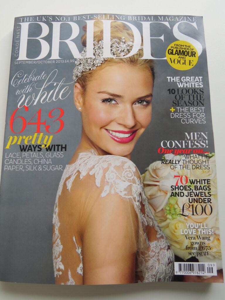 iris and blue in brides magazine