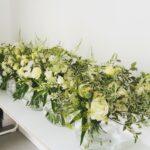 Yellow and Cream Vase Arrangements