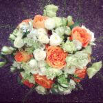 Orange and Cream Bridal Bouquet